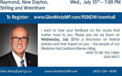 Virtual Town Hall Hosted by MP Glen Motz