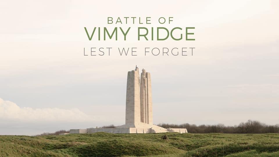 Vimy Ridge Day – April 9, 2021