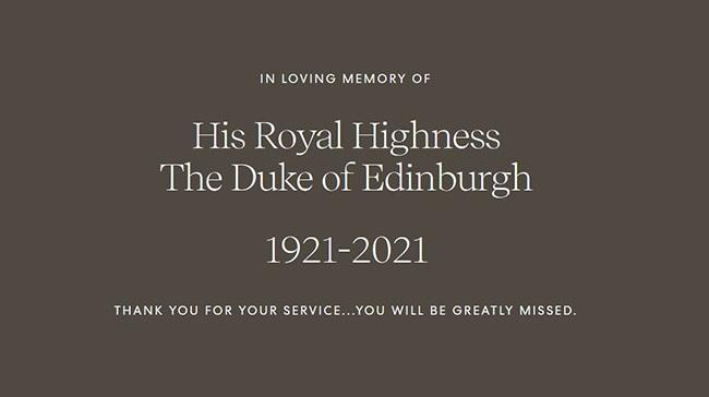 Passing of HRH Prince Phillip – April 9, 2021
